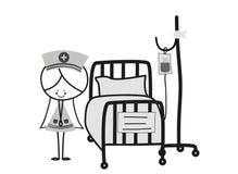 Медсестра Doodle Стоковые Фотографии RF