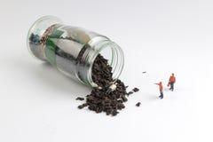 медсотрудники как игрушка вычисляют сторону чай сброса давления Стоковая Фотография