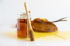 Мед с сотом Стоковая Фотография