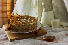 Мед торта Стоковые Фото