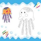 Медузы шаржа Стоковые Фото