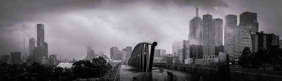 Мельбурн на сером утре зимы Стоковая Фотография