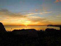 Мельбурн, Флорида, заход солнца в январе Стоковое Изображение