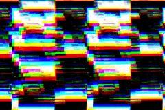 Мелькать черно-белой предпосылки реалистический, сетноой-аналогов сигнал ТВ года сбора винограда с плохим взаимодействием, статич стоковые изображения rf