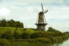 Мельница в Голландии Стоковое Изображение