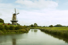 Мельница в Lovestein, Голландии Стоковые Фото