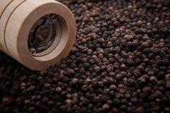 Мельница черного перца бутылки Стоковая Фотография