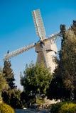 Мельница Montifiore в Иерусалиме, Израиле Стоковые Фото