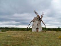 Мельницы ветра камня Стоковые Изображения