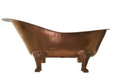 Медь ванны на изолированной предпосылке Стоковое Изображение