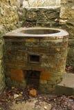 Медь – винтажный нагреватель воды, покинутый. стоковые изображения rf