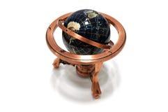 Медь глобуса модельная на белой предпосылке Стоковые Изображения RF