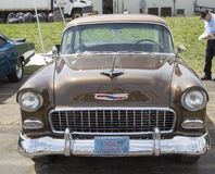Медь 1955 Chevy Bel Air Стоковое фото RF