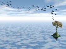 Миграция ласточек Стоковые Изображения
