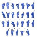 Мизинец говоря алфавит по буквам в американском языке жестов (a Стоковые Изображения RF