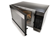Микроволновая печь на белой предпосылке Стоковое Изображение RF