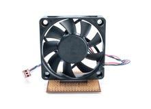 микропроцессор вентилятора стоковая фотография rf