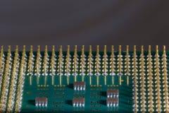 Микропроцессор - деталь крупного плана стоковое фото