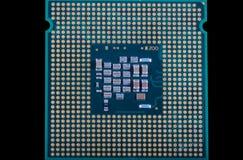 Микропроцессор - деталь крупного плана стоковые изображения rf