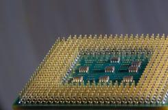 Микропроцессор - деталь крупного плана стоковые фото