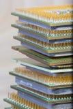 Микропроцессор - деталь крупного плана стоковые изображения