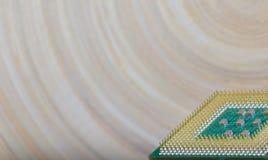 Микропроцессор - деталь крупного плана стоковые фотографии rf