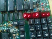 Микропроцессор 8085 на работе стоковое изображение rf