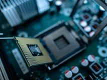 Микропроцессор C.P.U. компьютерной технологии стоковая фотография