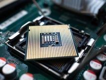 Микропроцессор C.P.U. кремния технологии электроники стоковая фотография rf