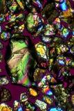 Микрорисунок зерен песка от Long Island Sound в Коннектикуте Стоковые Изображения RF