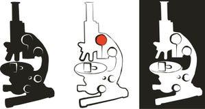 микроскоп иллюстрация вектора