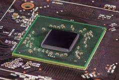 Микросхема и микропроцессор полупроводника крупного плана интегриро стоковые изображения