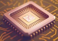 Микросхема компьютера Стоковые Фото