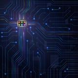 Микросхема плиты абстрактной предпосылки электронная бесплатная иллюстрация