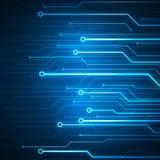 Микросхема цепи изображения цифров схематическая на голубой предпосылке Стоковые Фотографии RF