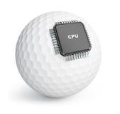 Микросхема шара для игры в гольф иллюстрация штока