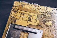 Микросхемы, содержание компьютера разделяют, обломок, электрик, оборудование Стоковые Изображения RF