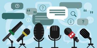 Микрофоны пресс-конференции Стоковое Изображение