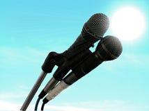 микрофоны Стоковые Фотографии RF