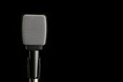 Микрофон аппаратуры на черной предпосылке Стоковое Фото