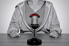 микрофон блога Стоковые Фотографии RF