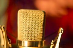 Микрофон голоса студии аудиозаписи вокальный Стоковые Фото