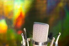 Микрофон голоса студии аудиозаписи вокальный Стоковое Фото