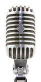 Микрофон год сбора винограда на белой предпосылке Стоковые Фотографии RF