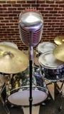 Микрофон джаз-бэнда стоковое изображение rf