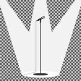 Микрофон значка стоящий иллюстрация штока