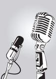 микрофон интервью Стоковое Изображение