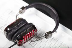 Микрофон и клавиатура Стоковое Изображение RF