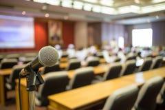 Микрофон конференц-зала конференц-зал Стоковые Фото