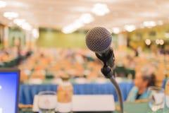 Микрофон конференц-зала конференц-зал Стоковое Изображение